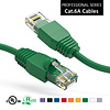 15 Foot Cat6A UTP Ethernet Network Booted Cable 24AWG Pure Copper, Green Cat-6A (15Ft.)