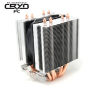 Cryo-PC Cryo-PC CPU Cooler RGB LED 4-Pin 92mm Fan 6-Heatpipes AMD Intel Compatible Easy Installation