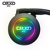 Cryo-PC Cryo-PC LC360 360mm Water Liquid Cooling Cooler Radiator with x3 120mm LED Rainbow Lighting Case Fan CPU Cooler (Rainbow)