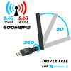 USB AC600 Wireless Adapter 5DBi Antenna