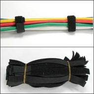 "6"" Velcro Strap 1/2"" Width Black, 50pc Pack"
