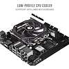 ID Cooling ID-COOLING IS-30 30mm Height Mini-ITX Low Profile Cooler with 92x92x12mm Slim Big Airflow Fan, Black Color Theme, AM4 and LGA115X, TDP 95W