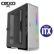 Cryo-PC Cryo-PC Mini ITX Custom PC Ryzen 5 3400G, 8GB RAM, 256GB M.2, Windows 10 Pro, Silver