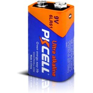 PKCELL Ultra 9V 6LR61 Alkaline Battery, Blister Card