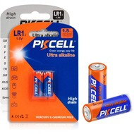 PKCELL Ultra digital Alkaline Battery 1.5V LR1, Blister Card