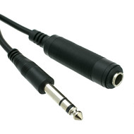 "1/4"" Stereo TRS Male/Female Extension Cable (Choose Length)"