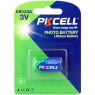PKCELL 1-Pack 3V CR123A 1500mAh  Lithium Manganese Battery