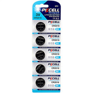 PKCELL 5-Pack CR2016 3V Button Cell Lithium Manganese Battery