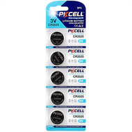 PKCELL 5-Pack CR2025 3V Button Cell Lithium Manganese Battery