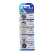 PKCELL 5-Pack CR2032 3V Button Cell Battery (Replacement Motherboard Battery)