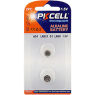 PKCELL AG1 1.5V Alkaline Button Cell Battery (Choose Quantity)