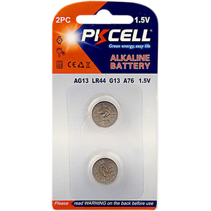 PKCELL AG13 1.5V Alkaline Button Cell Battery (Choose Quantity)