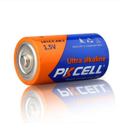 PKCELL 2-Pack Ultra digital Alkaline Battery 1.5V C/LR14, Shrink Pkg