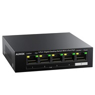 Aumox Aumox 5 Port Gigabit Ethernet PoE Switch, 4 Port PoE 58W, Unmanaged, Durable Metal Casing, Desktop, Traffic Optimization, Fanless, Plug and Play (SG105POE)