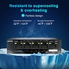 Aumox Aumox 5 Port Gigabit Ethernet PoE Switch, 4 Port PoE 58W, Unmanaged, Durable Metal Casing, Desktop, Traffic Optimization, Fanless, Plug and Play (SG105POE)