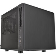Thermaltake Thermaltake Suppressor F1 Mini ITX Tt LCS Certified Cube Computer Chassis CA-1E6-00S1WN-00, Black