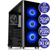 Cryo-PC Cryo-PC V200 Custom PC i7-10700, 32GB RAM, 512GB M.2, Quadro P2200,  850W PSU, Windows 10 Pro