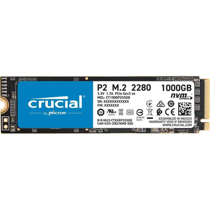 Crucial Crucial P1 1TB 3D NAND NVMe PCIe M.2 SSD - CT1000P2SSD8