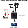 Gigacord Gigacord Bi-directional HDMI 1x2 2x1 AB 2-Port Switch with 2 port support 4K 1080P 3D Ultra HD Full HD HDCP pass through