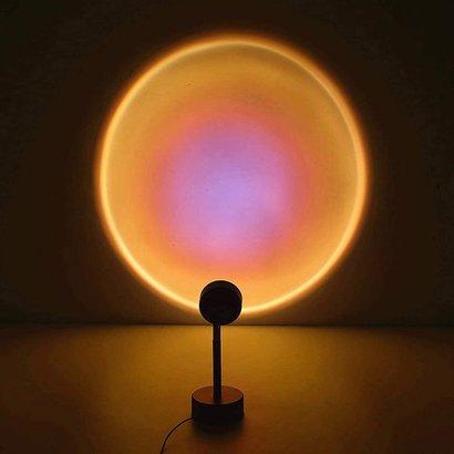 Gigacord Gigacord Sunset Projection lamp Night Light Projector, Sunset Projection LED Floor Lamp, Rainbow Light for Bedroom Home Decor, Romantic Projector Lights 360 degree (Sun)