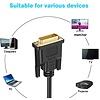6Ft (1.8m) DVI-D Dual Link Video Cable Male/Male Black