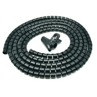 "Gigacord Spiral Cable Zip Wrap Black 20mm x 1.5m (0.8"" x 4.92Ft)"