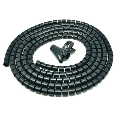 """Gigacord Spiral Cable Zip Wrap Black 30mm x 1.5m (1.2"""" x 4.92Ft)"""