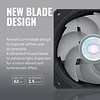 Coolermaster Cooler Master SickleFlow 140 V2 ARGB Square Frame Fan, Individually Customizable LEDs, Air Balance Curve Blade Design, Sealed Bearing, PWM Control for Computer Case & Liquid Radiator