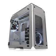 Thermaltake Thermaltake View 71 Snow 4-Sided Tempered Glass Vertical GPU Modular SPCC E-ATX Gaming Full Tower Computer Case Chassis 3-Way Radiator View with 2 White LED Riing Fan Pre-Installed CA-1I7-00F6WN-00