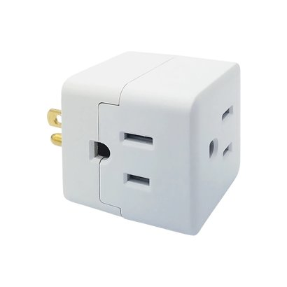 3 Outlet 3-Prong Cube Power Adapter
