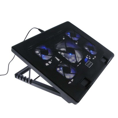 """Cooling Pad for 12- 17"""" Laptop Notebook Cooler, Multi-angle Stand 5 Fans, USB Port"""