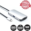 USB-C Male to HDMI Video USB-C USB 3.0 Female 3 in 1 Adapter