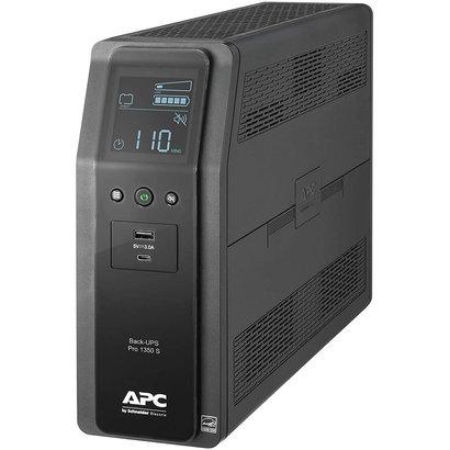 APC APC UPS, 1350VA Sinewave UPS Battery Backup & Surge Protector, BR1350MS Backup Battery with AVR, (2) USB Charger Ports, Back-UPS PRO Uninterruptible Power Supply Black (BR1350MS)