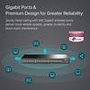 TP-Link TP-Link 48 Port Gigabit Ethernet Switch | Plug and Play | Sturdy Metal w/ Shielded Ports | Rackmount | Fanless | Limited Lifetime Protection | Traffic Optimization | Unmanaged (TL-SG1048) , Black