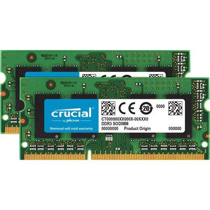 Crucial Crucial RAM 8GB Kit (2x4GB) DDR3 1600 MHz CL11 Laptop Memory CT2KIT51264BF160B