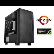Cryo-PC Versa H18 Custom PC -  Ryzen 3400G, 16GB RAM, 256GB M.2 NVMe, 1TB HDD, GTX 1050Ti, 650W PSU, Windows 10 Pro