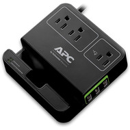 APC APC 3-Outlet Surge Protector 1080 Joule with 3 USB Charging Ports, SurgeArrest Essential (P3U3B), Black