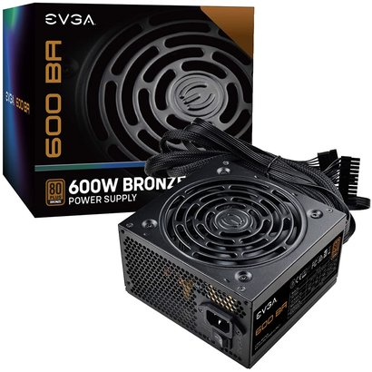 EVGA EVGA 600 BA, 80 Plus Bronze 600 Watt ATX Power Supply 100-BA-0600-K1