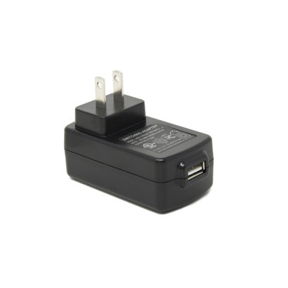 USB DC 5V Wall Outlet Adapter 2000mA (2 Amp) iphone Samsung Charger, Black