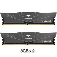 Teamgroup TEAMGROUP T-Force Vulcan Z DDR4 16GB Kit (2x8GB) 3200MHz (PC4-25600) CL16 Desktop Memory Module Ram (Gray) - TLZGD416G3200HC16CDC01