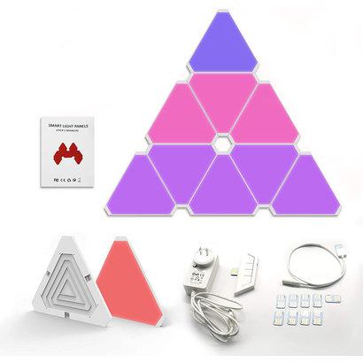 Cryo-PC Cryo-PC Smart LED Triangle Light Panels Kit 16M Colors, Pack of 9