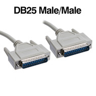 50 Foot Serial Parallel DB25 Male Male Cable Straight Through, Beige