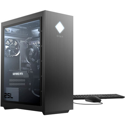 HP HP Omen 25L GT12-0119 Gaming Desktop, AMD Ryzen 5 3600, 16GB DDR4-3200, 256GB SSD, 1TB HDD, RTX 2060 Video, Windows 10 Home, 13Z14AA#ABL