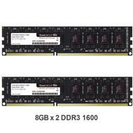 Teamgroup TEAMGROUP Elite DDR3 16GB Kit (2 x 8GB) 1600MHz (PC3-12800) CL11 Unbuffered Non-ECC 1.5V UDIMM 240 Pin PC Computer Desktop Memory Module Ram Upgrade - TED316G1600C11DC01-16GB Kit (2 x 8GB)