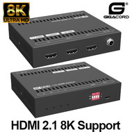 Gigacord Gigacord 1in-2out HDMI 2.1 8K 2-Port Powered Splitter, HDCP 2.3, 40Gbps
