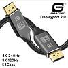 Gigacord Gigacord 15 Foot Displayport 2.0V Cable UBR13.5 54Gbps 4K-240Hz, 8K-120Hz, Braided, Locking Latch