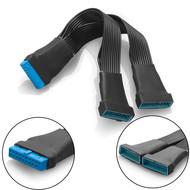 Gigacord 12cm USB 3.0 19-pin Header Splitter Cable Adapter 1 to 2 Extension 1 to 2 Extension Splitter Cable, 12cm 19Pin Internal Extension Header Adapter Cable