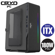 Cryo-PC Mini ITX Custom PC Ryzen 5 5600G, 32GB RAM 3600MHz, 1TB NVMe, Windows 10 Pro, Black