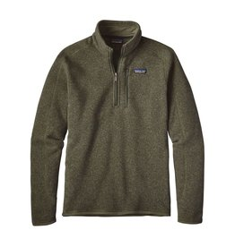 Patagonia Mens Better Sweater 1/4 Zip Industrial Green