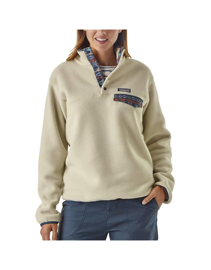 Patagonia Womens LW Synch Snap-T P/O Pelican w/Stone Blue